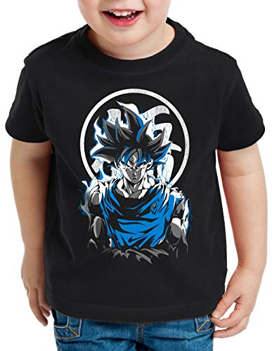 style3 Super Saiyan God Blue Camiseta para Niños T-Shirt Vegeta dragón, Talla:140