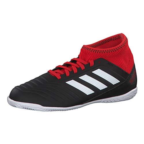 adidas Unisex-Kinder Predator Tango 18.3 Indoor Futsalschuhe, Schwarz (Negbás/Ftwbla/Rojo 001), 35 EU