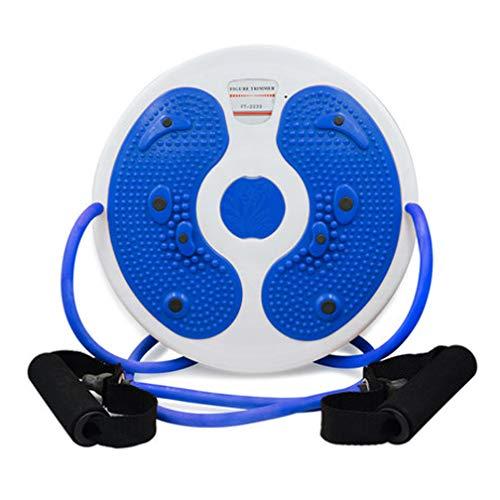 CAJOLG Taille Wriggling Platte Twister Platte Twist Board Verdrehen Disc Abnehmen Bein Twist Board Fitnessgerät Bauch,Fitneßscheibe Trimmscheibe für Übungen für Hüften und Taille Fitness,Blue