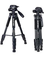 ZOMEI 三脚 軽量アルミ製 4段 3WAY 雲台 キャリングバッグ付き Canon Nikon Sony一眼レフビデオカメラなど用Q111(黒い)