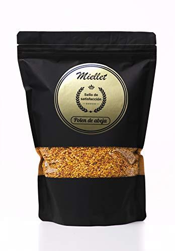 1kg - Miellet - Polen de abeja certificado 100% de origen español. Complemento alimenticio, rico en proteínas, vitaminas B1, B3, minerales, omega-3, fuente de fibras, cobre, manganeso y fósforo.