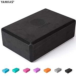 Yamkas Bloque de Yoga |1 o 2 Piezas | Yoga Block Espuma Eva | Bloques para Ejercicio y Pilates | Ladrillo Yoga