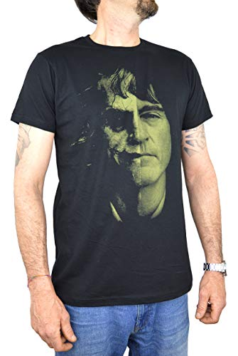 Joker Phoenix 2019 | Gezichten Heren T-Shirt 100% Katoen | Zwarte kleur Water Kleuren Scherm Print