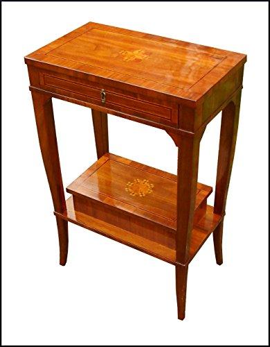 Lacommodemobili Tavolino Toilette in Stile Antico in Legno massello lastronato