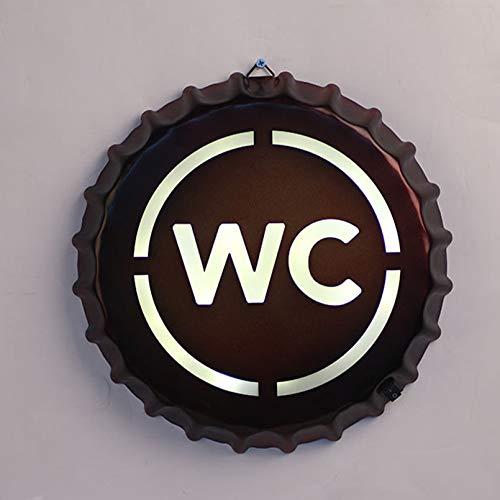 ZBHGF Retro Wand Dekor LED Schild Coffe Bar Kreative Zeichen Light Box für Bar, Loft, Café, Wandschmuck 29 * 4cm,Wc