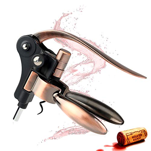 Wine Opener - Manual Rabbit Wine Bottle Opener Corkscrew Set - Screwpull Levers with Foil Cutter...