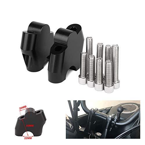 JFG RACING Motorrad Lenker Riser Bar Risers Clamp bewegt Bar Extend Adapter - 40mm angehoben - für NC700S / X NC750X CB500X das ganze Jahr - schwarz