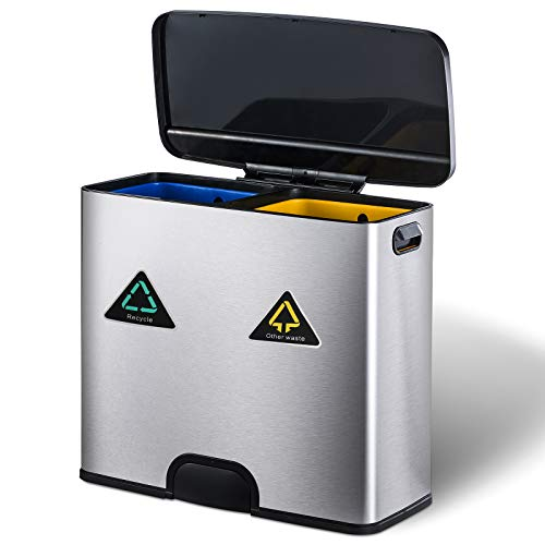 Display4top touch-type elektrische vuilnisemmer, keuken, toilet, badkamer, deodorant vuilnisemmer, roestvrij staal uiterlijk