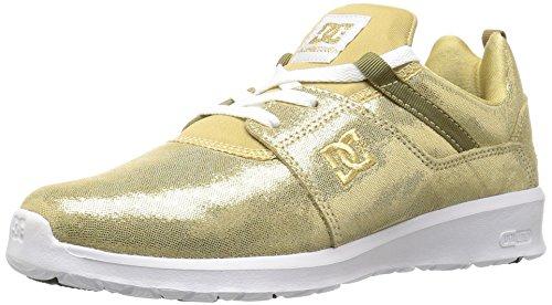 DC Women's Heathrow SE Shoes Skateboarding, Gold, 9.5 M US