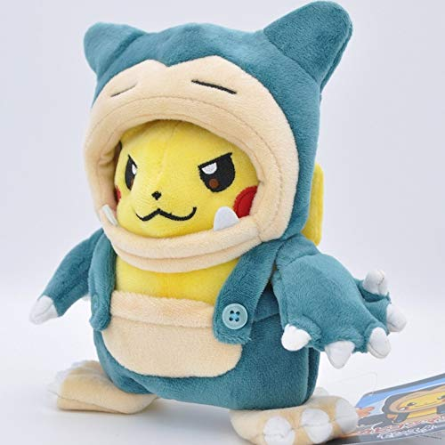 Kioiien Peluche Toys Anime Pikachu Snorlax Disfraz Anime Toy Relleno Kabigon Maniaco Suave suave peluche juguetes Muecas Cute Mueca suave Decoracin para nios Nios Regalos Cumpleaos Regalo de Nav