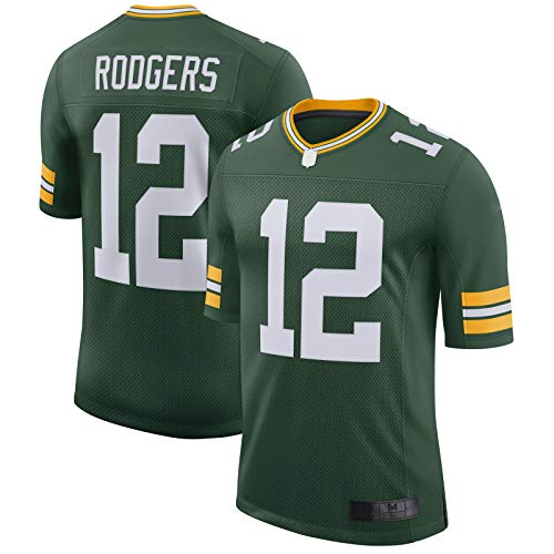 ZUQIU Rodgers Aaron - Camiseta de fútbol americano para hombre, transpirable, color verde, talla S
