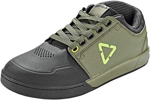 Leatt Chaussures 3.0 Flat, Zapatillas de Ciclismo de montaña Unisex Adulto, Vert Cactus, 43 EU