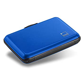 Lewis N Clark Mini RFID Aluminum Wallet Credit Holder Business Card Metal ID Case for Men & Women Blue One Size