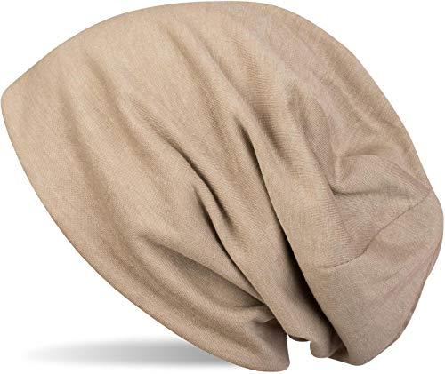 styleBREAKER Klassische Slouch Beanie Mütze, leicht und weich, Longbeanie, Unisex 04024018, Farbe:Beige