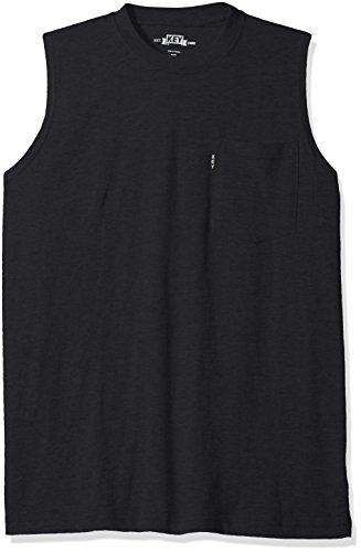 Key Apparel Herren Blended Sleeveless Tee-Navy T-Shirt, XXX-Large
