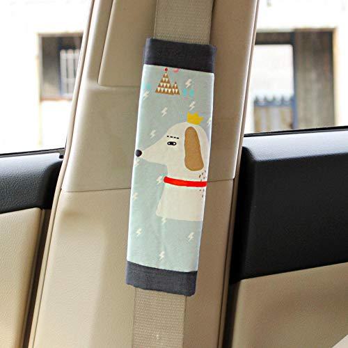 Funda universal almohadilla para cinturón seguridad para automóvil, paquete de 2 almohadillas cómodas arnés Fundas cinturón seguridad Protector correa el hombro adultos y niños para niños pequeños