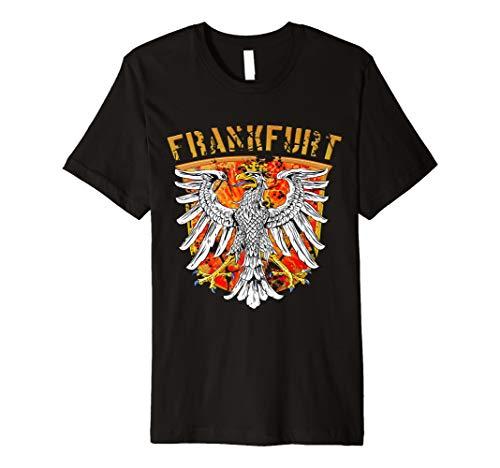 Eintracht Frankfurt City Fußball T-Shirt Frankfurter Stadtwappen
