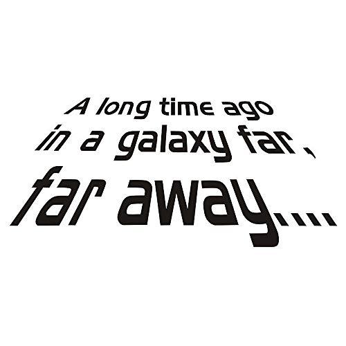 Greetuny 1pcs A Long Time ago.Star Wars Letras Pegatinas Pegatinas Infantiles Impermeable Vinilos Decorativos Creative Stickers Pared