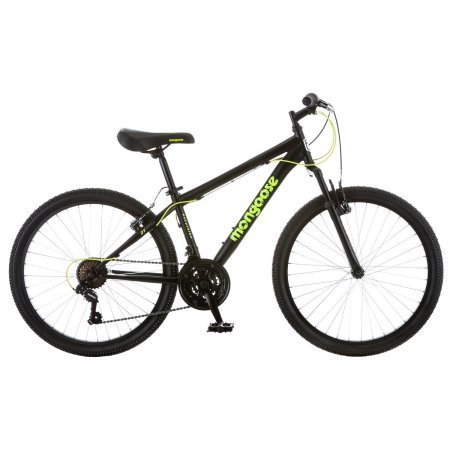 Mongoose 2434 Excursion Boys39; Mountain Bike, Black/Green