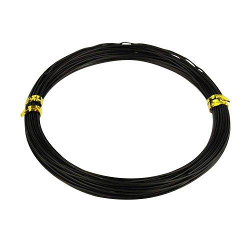 PandaHall Los alambres de aluminio,Negro,0,8 mm,10m / roll