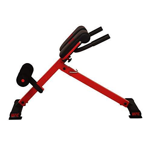UFC 45° Hyperextension Rückentrainer, Bauch- und Rückentrainer für zuhause, bis 136kg belastbar, klappbar und höhenverstellbar