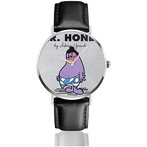 Unisex Business Casual Mr Ho-Nda Street Fighter Mr Men Relojes Reloj de Cuero de Cuarzo