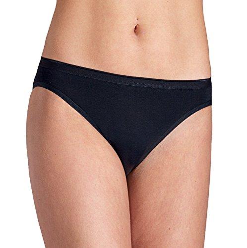Pompadour Esge Confezione da Bikin Slip Nero o Bianco di Cotone Organico GOTS Nero 46