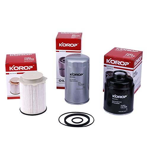 Fuel Filter Water Separator and Oil Filter Set Fits for Dodge Ram 6.7L Cummins Diesel 2013-2018 2500 3500 4500 5500 Replaces# 68197867AA 68157291AA 5083285AA