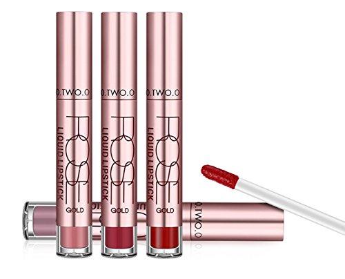AKAAYUKO 1PCS Rouge à Lèvres Imperméable à L'Eau Mat Liquide Lip Liner Gloss #02