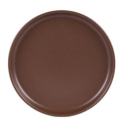 Table Passion - Plato de postre (22 cm, 6 unidades), color chocolate