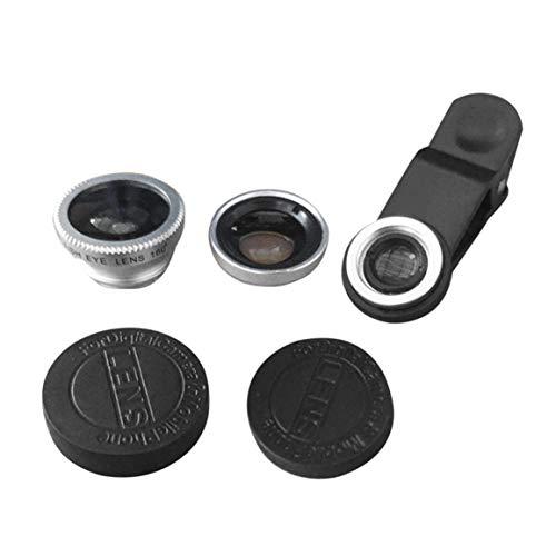 スマートフォン用ユニバーサル3In1携帯電話カメラレンズキット-魚眼レンズ/ 2 In1マクロレンズと広角レンズ