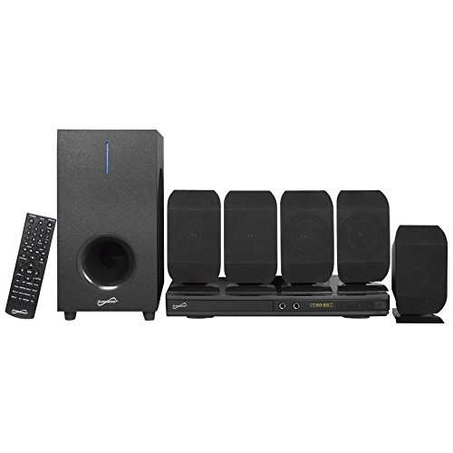 SuperSonic - 5.1 Channel DVD Home Theater System with USB Input & Karaoke Function, Home Theater Systems - Black (SC-38HT)