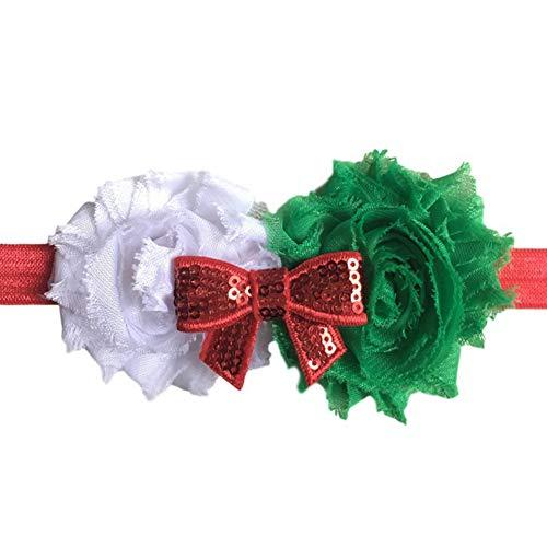 Sanwood Bandeau Noeud Noeud Noeud Glitter Fleur De Noeud Élastique Enfant Filles 2#