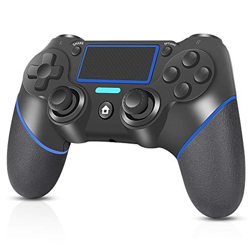 Controller per PS4, RegeMoudal Controller Wireless per PS4/PS4 Slim/PS4 Pro/PC Doppio Vibrazione di Gioco Controller TouchPad e Audio Jack Bluetooth Gamepad Joystick Controller per Playstation 4