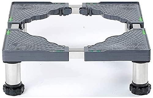 Ghongrm Base ajustable para la secadora 4/8/12 pies Base de la lavadora Soporte de base 14-17 cm Soporte de refrigerador Soporte de lavandería Lavadora Soporte anti-vibración para cocinas de nevera La