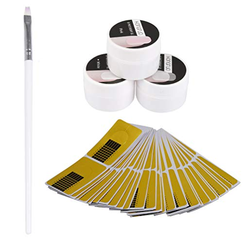 YOTINO UV Gel Set Nail Extension UV Gel Nagellack Adhesive Builder(5 Stück)