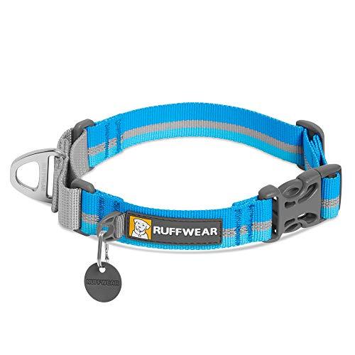 "RUFFWEAR Collar para Perros Web Reaction de Tejido Técnico, Collar Martingale Ajustable - Azul Noche, 14"" – 17"" (35,5-43 cm)…"