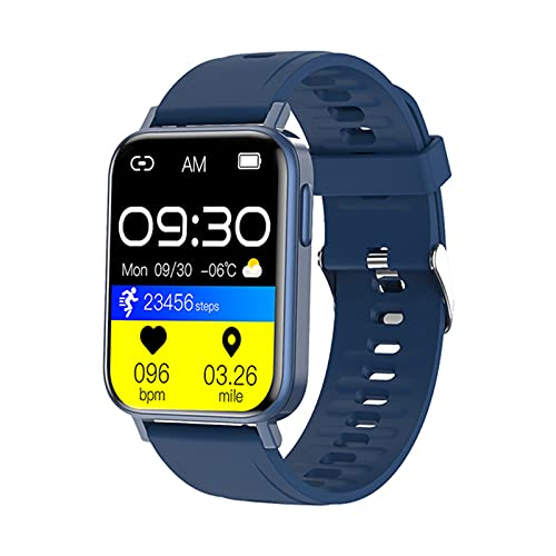 YYDM Smart Watch, Rastreador De Actividad Impermeable IP68, Frecuencia Cardíaca/Temperatura Corporal/Detección De La Presión Arterial, 30 Tipos De Información,Azul
