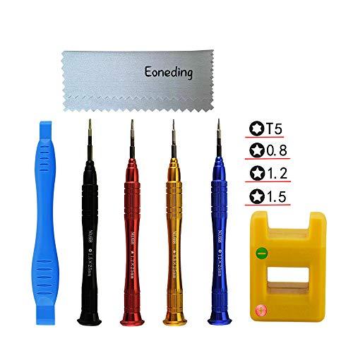Eonding Repair Tool Kit 6 in 1 Professional MacBook Repair Tool Kit Screwdriver P2,P5,P6,T5 Easily Open and Repair MacBook Pro, Air (6Pcs Tools)