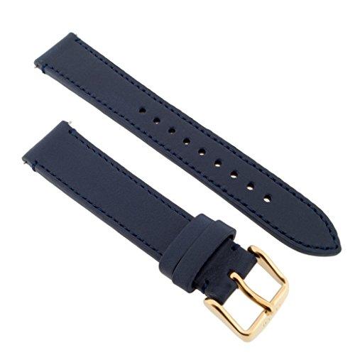 Fossil Uhrband Wechselarmband LB-ES3832 Original Ersatzband ES 3832 Uhrenarmband Leder 18 mm Blau