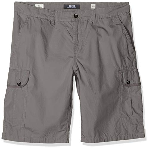 s.Oliver Big Size Herren 15.907.74.3778 Shorts, Grau (Smoke Grey 9490), 44