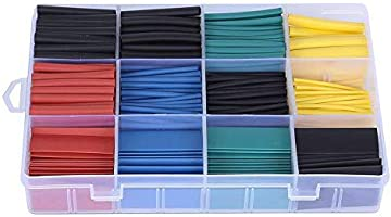 ValueHall 530 pcs Heat Shrink Tubing, Polyolefin Material, 2 : 1 Heat Shrink Ratio, Heat Shrink Tube Assortment Wire...