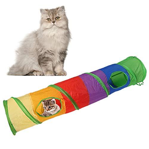 Yanhonin - Juguete para Gato, Plegable, túnel de Juguete con el Juguete de Gato de Bola – Juguete Interactivo