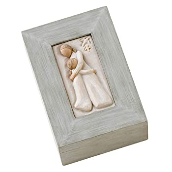 Willow Tree Mother and Daughter Sculpted Hand-Painted Memory Box
