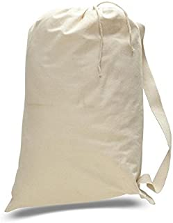 Household Essentials Small-Medium-Large Size Natural Cotton Laundry Bag (1, Sm. 18