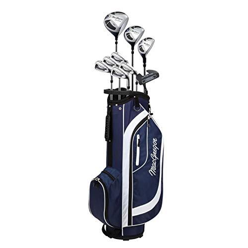 MacGregor CG2000 Ferri Grafite Woods Golf Club & Cart Bag Pacchetto Set, Donna e Borsa da Carrello Women's, Navy/Bianco, Mano destra delle donne