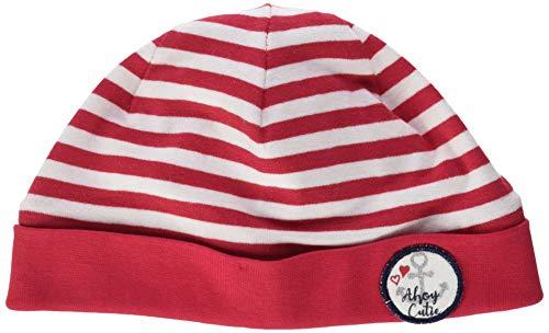 SALT AND PEPPER Gestreift Badge Mit Anker Herz Motiv Bonnet, Rouge (Lollipop Red 344), 49 (Taille Fabricant: 49centimeters) Bébé Fille