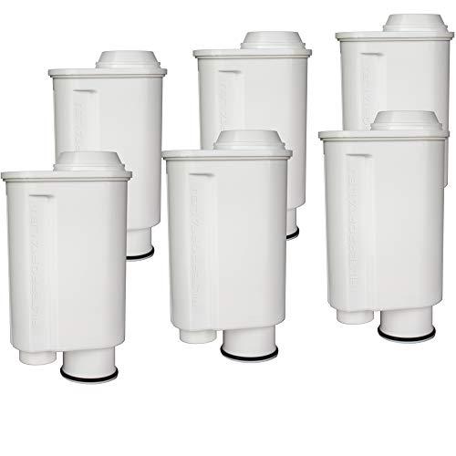 Juego 6 filtros agua cafetera espresso compatible