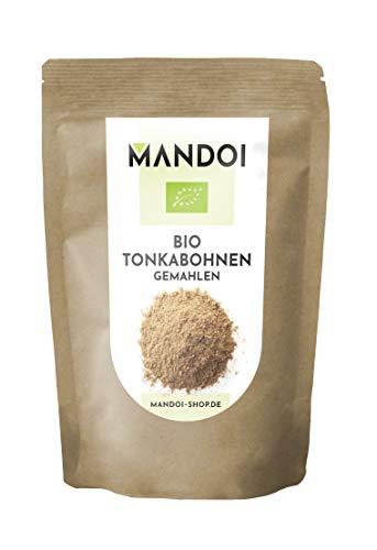 Mandoi BIO Tonkabohne gemahlen, 25g feinstes Tonka Pulver. Premium BIO Tonkabohnen aus Brasilien
