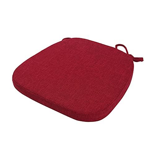 NC Cojín de Silla Cojines de Silla Antideslizantes Cojín de Silla para Comedor Sala de Estar Oficina Silla de Cocina - Rojo